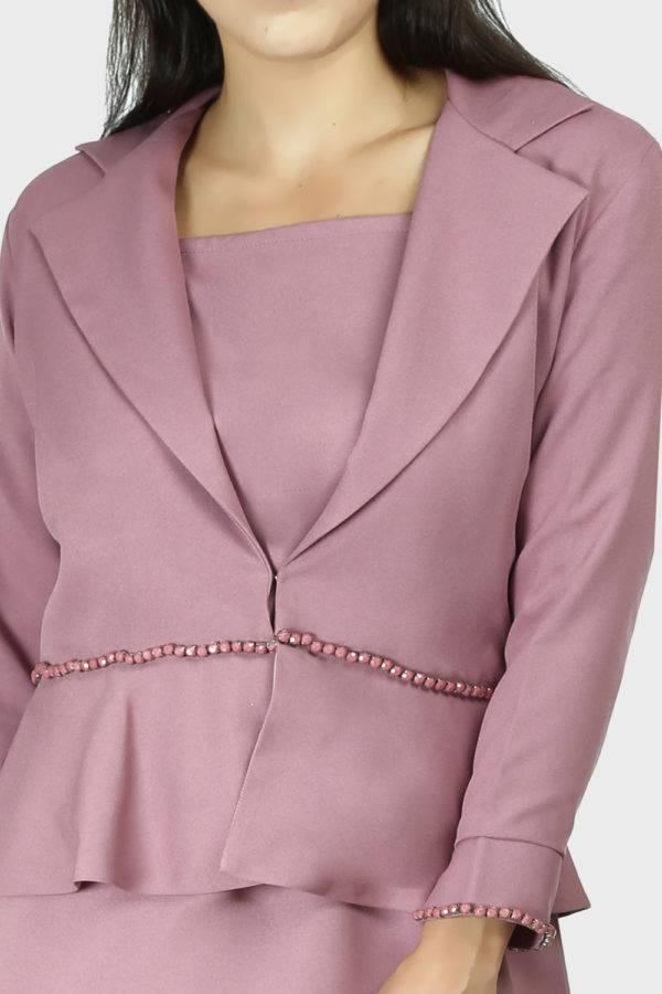 Cold Shoulder Dress & Blazer Co-Ord3