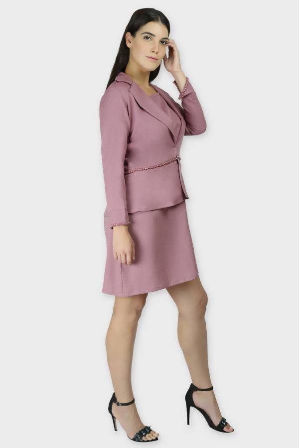 Cold Shoulder Dress & Blazer Co-Ord6