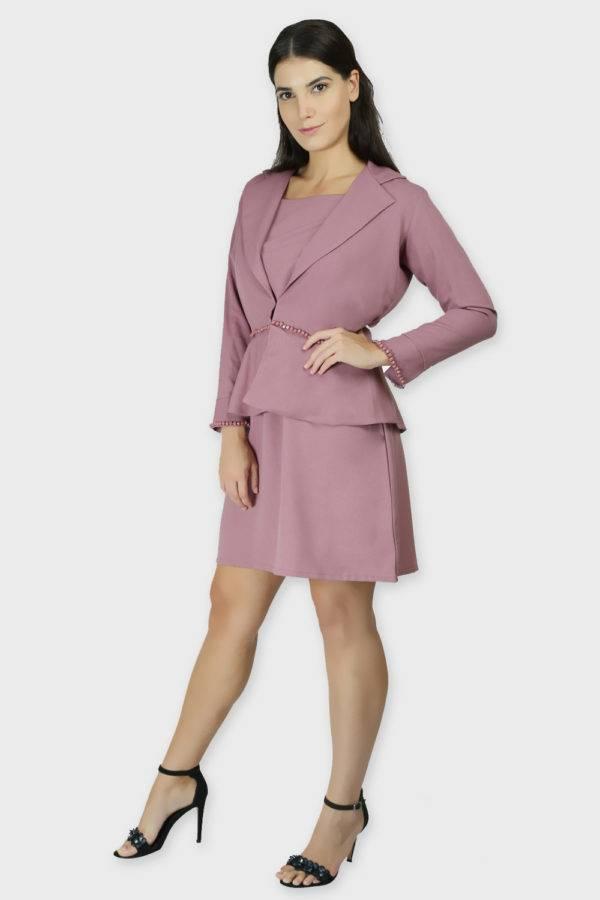 Cold Shoulder Dress & Blazer Co-Ord7