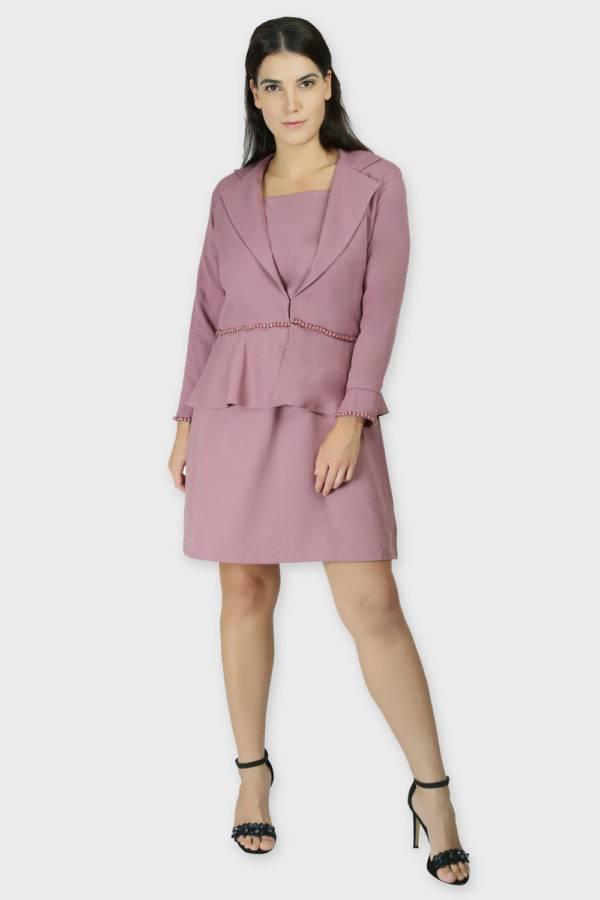 Cold Shoulder Dress & Blazer Co-Ord8