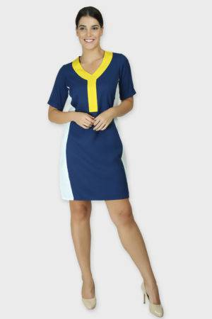 COLOR BLOCK SLIM LOOK DRESS2
