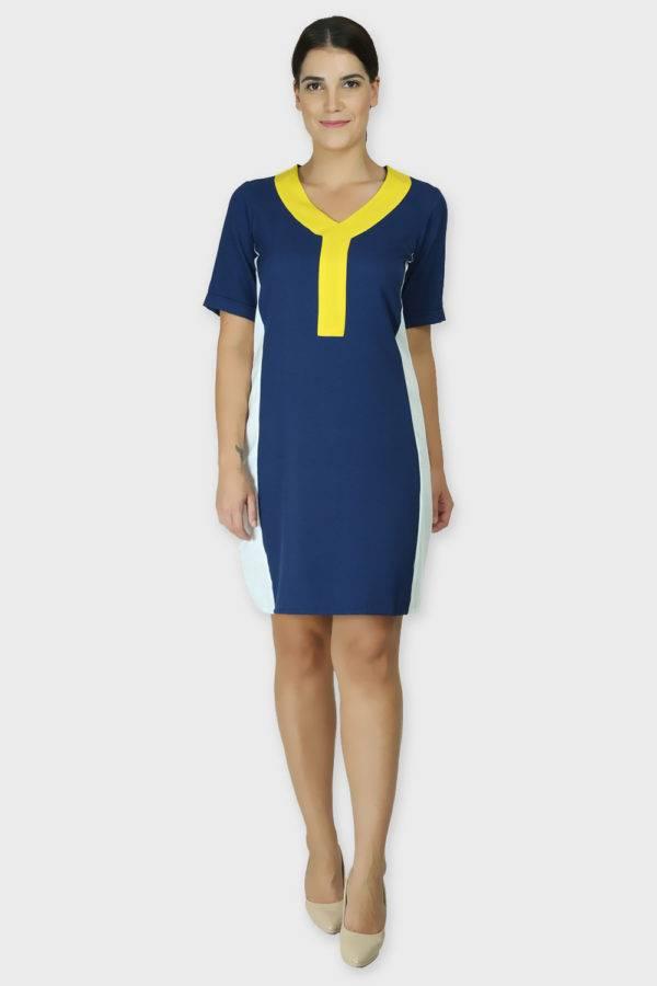 COLOR BLOCK SLIM LOOK DRESS4