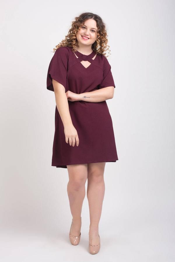 Wine Crisscross Dress1