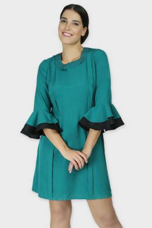 PETER PAN COLLAR FLARED DRESS2