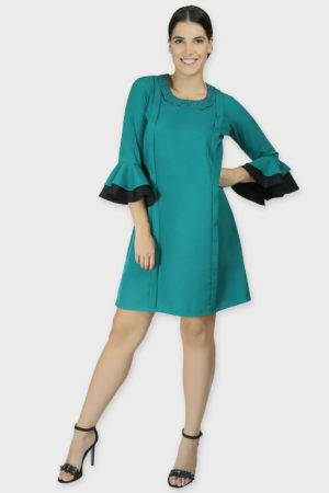 PETER PAN COLLAR FLARED DRESS3