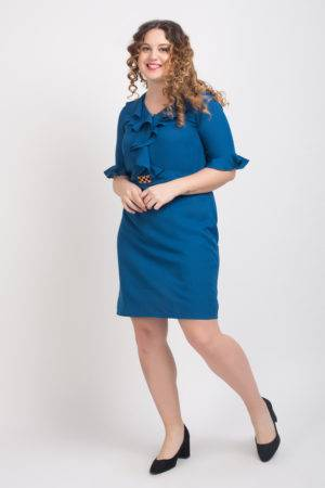Ruffle Dress With Metal Buckle1