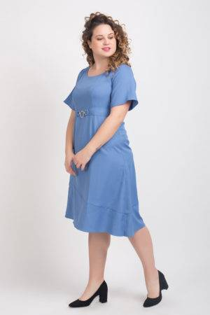 Shoulder Embossed Assymetric Dress1