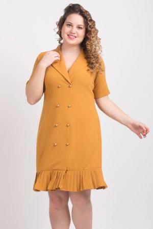 Mustard Trench Dress1