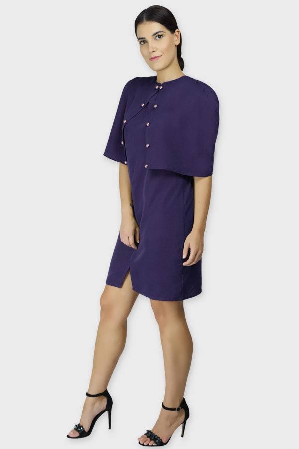 Violet Cape Dress1