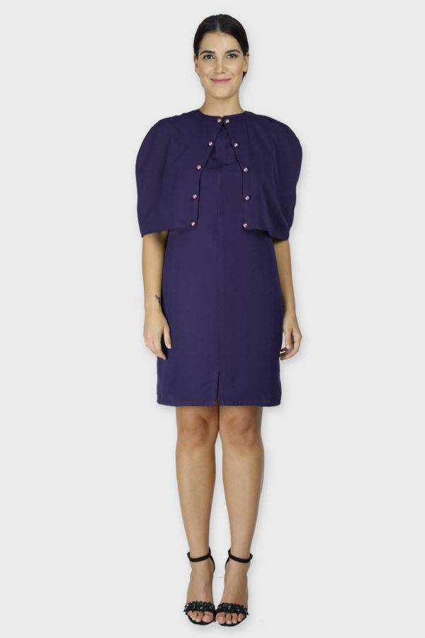 Violet Cape Dress2