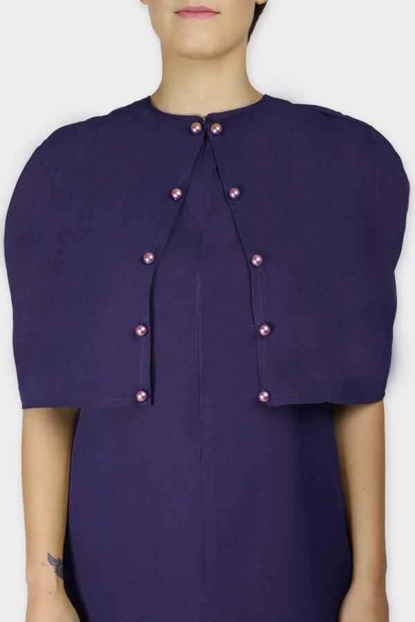 Violet Cape Dress3