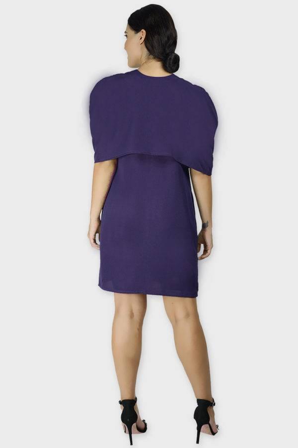 Violet Cape Dress4