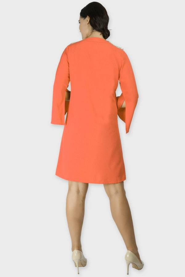 Orange Coat Dress 1