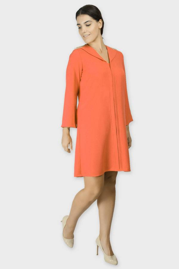Orange Coat Dress 2