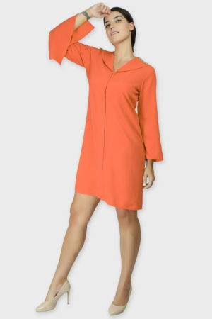 Orange Coat Dress 4