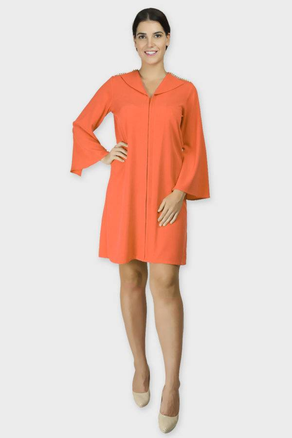 Orange Coat Dress 5
