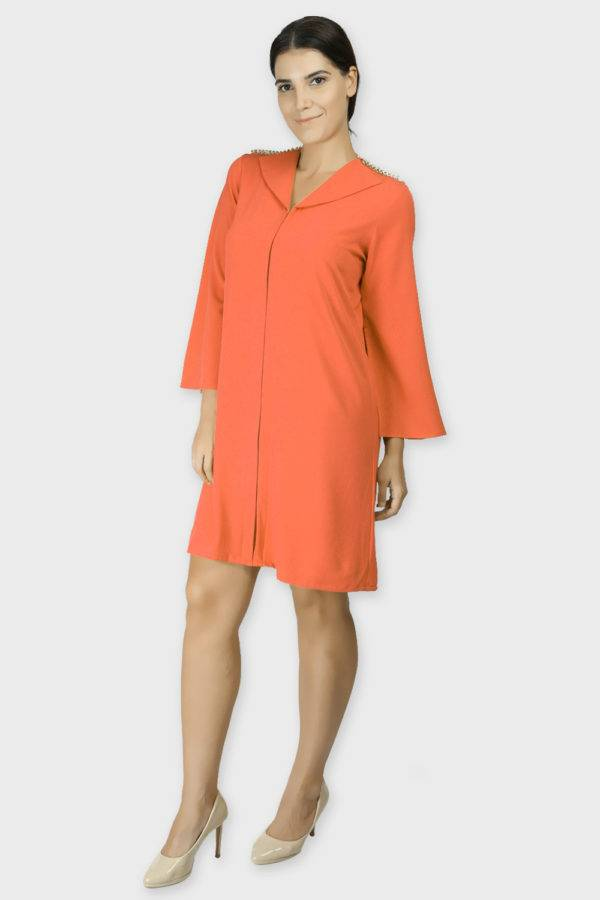 Orange Coat Dress 6