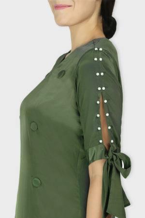 Green Oxforrd Aline Dress1