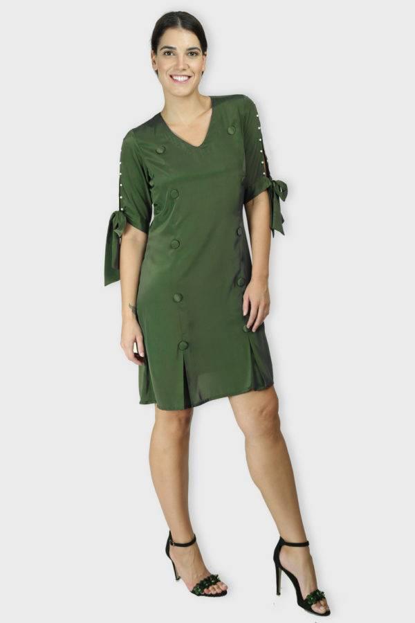 Green Oxforrd Aline Dress2