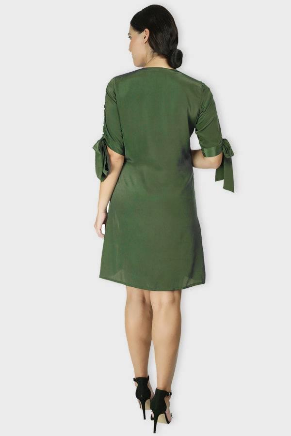 Green Oxforrd Aline Dress3
