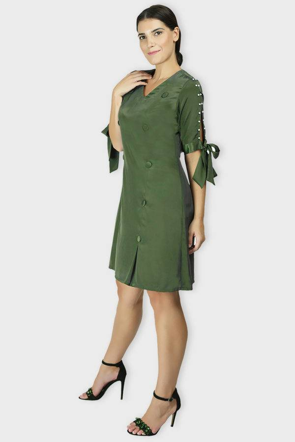 Green Oxforrd Aline Dress5