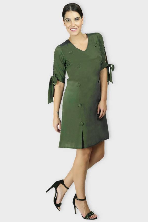 Green Oxforrd Aline Dress7