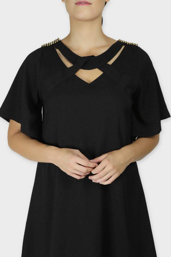 Black Crisscross Dress1