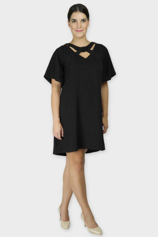 Black Crisscross Dress3