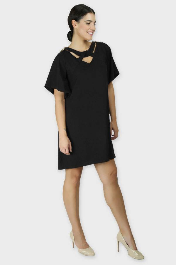 Black Crisscross Dress4