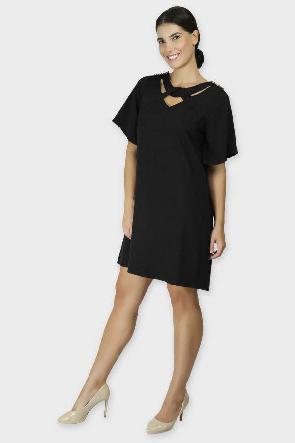 Black Crisscross Dress5