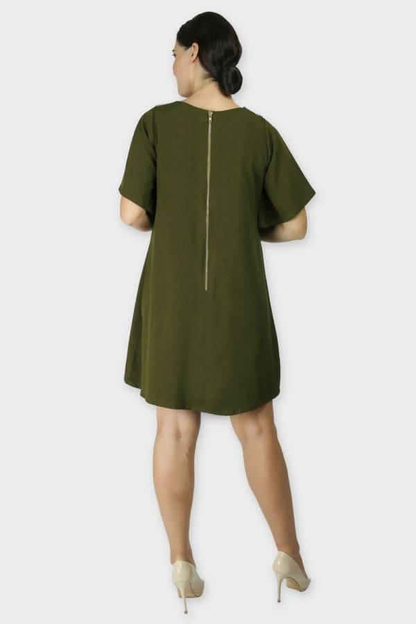 Olive Crisscross Dress2