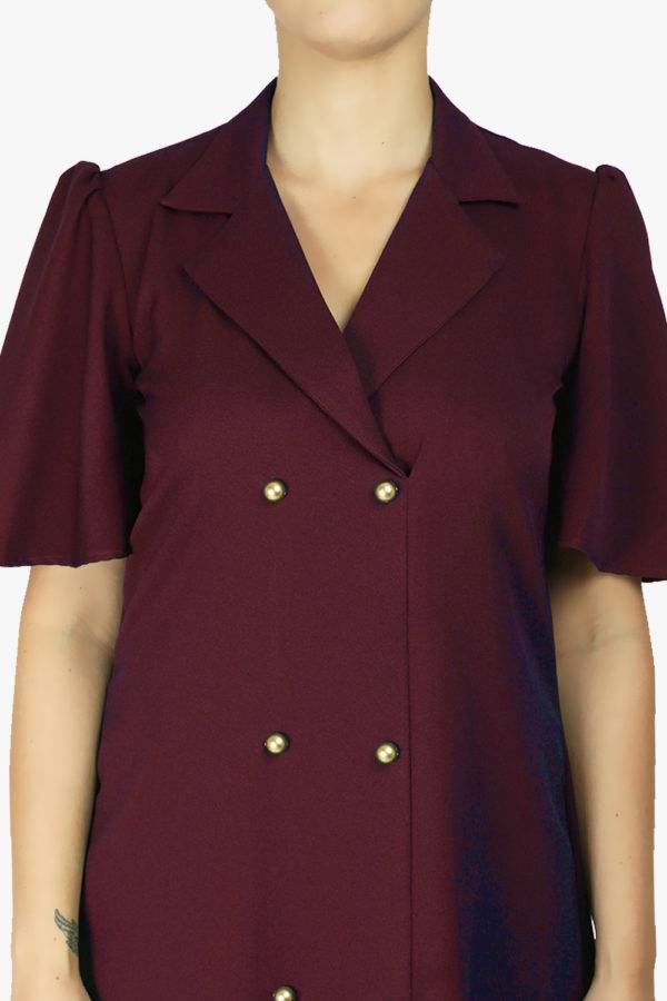 Wine Coloured Trench Dress2
