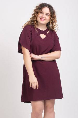 Wine Crisscross Dress1