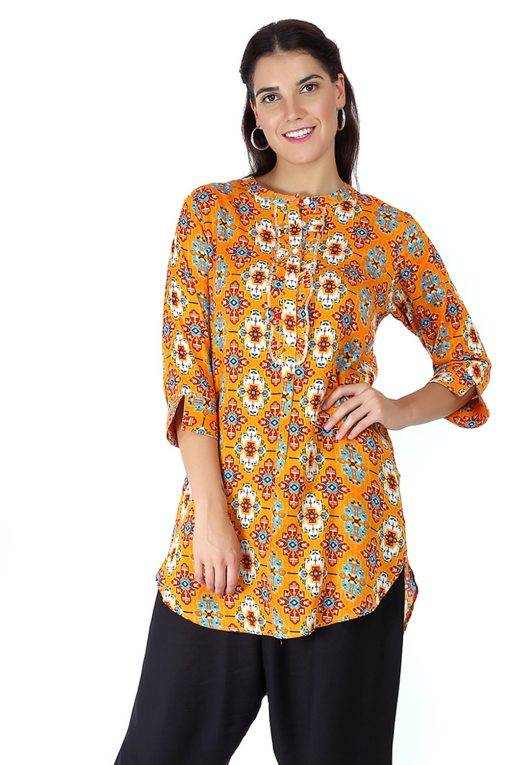 Short Yellow kurti