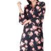 Bell Sleeve Floral Kurti With Mandarin Neck
