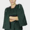 Green Rivet Sequin Cape Jacket