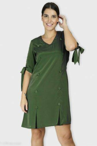 Green Oxforrd Aline Dress