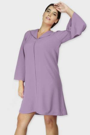 Lavendar Coat Dress