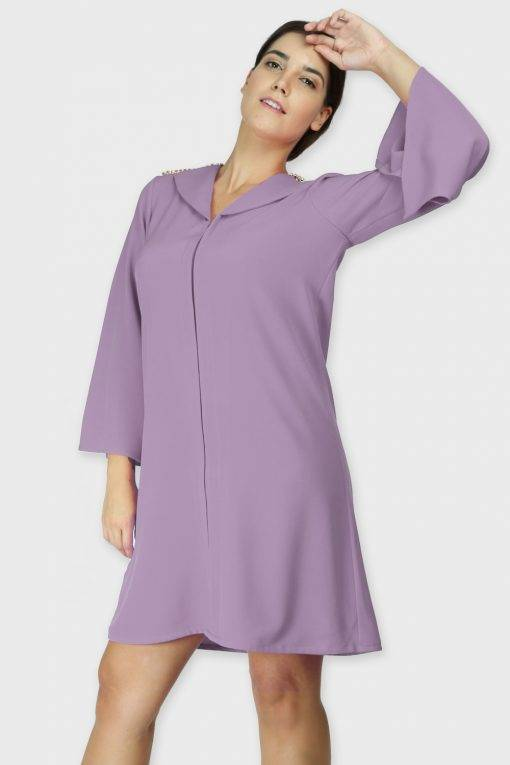 Lavendar Coat Dress
