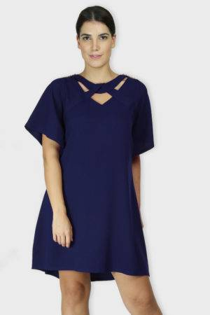 Blue Crisscross Dress