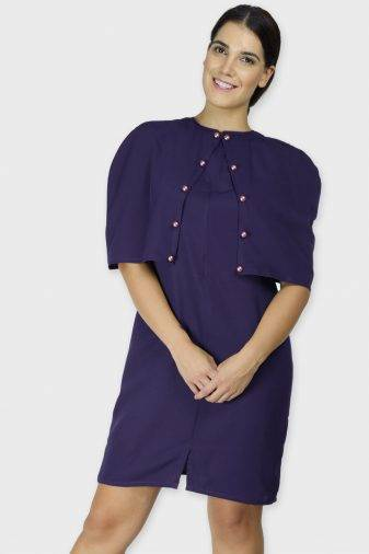 Violet Cape Dress