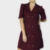 Wine Coloured Trench Dress
