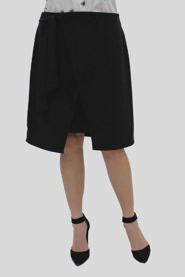 Black Wrap Skirt 1