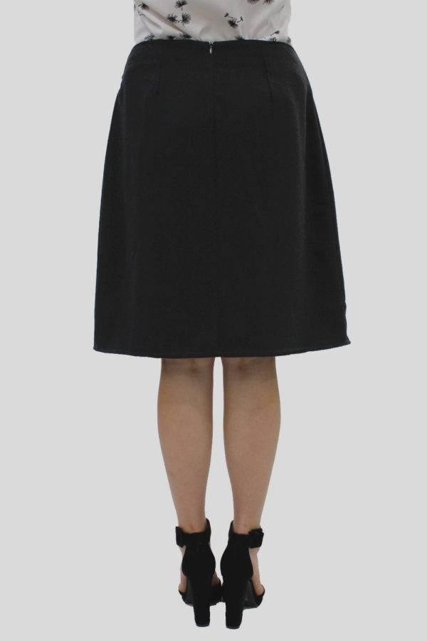 Black Wrap Skirt 2
