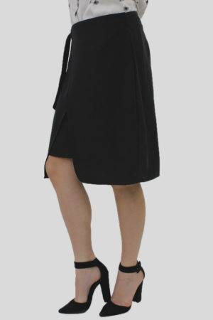 Black Wrap Skirt 3