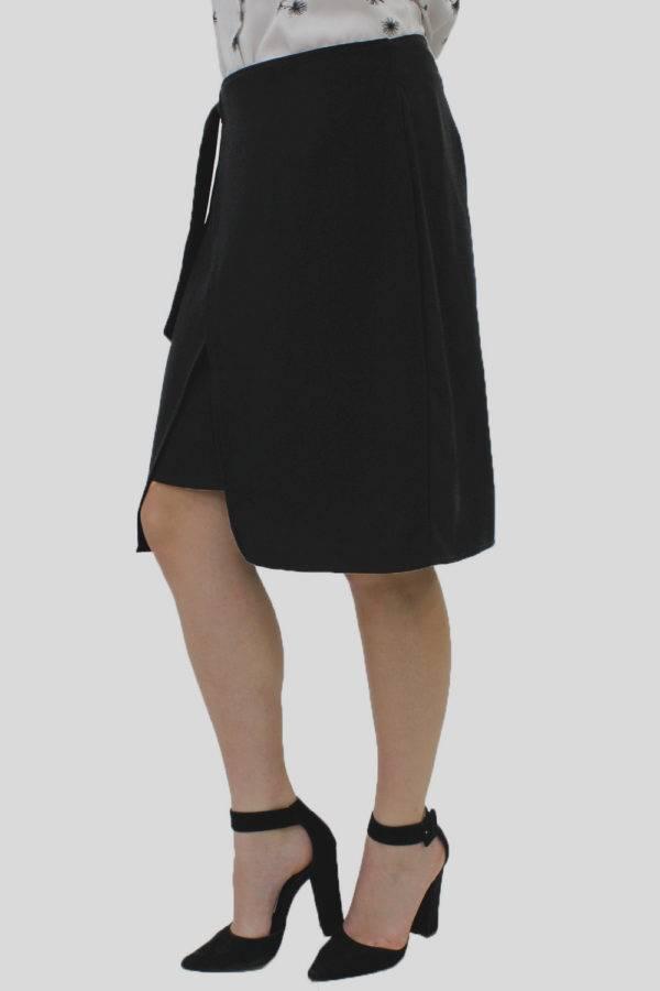 Black Wrap Skirt 3