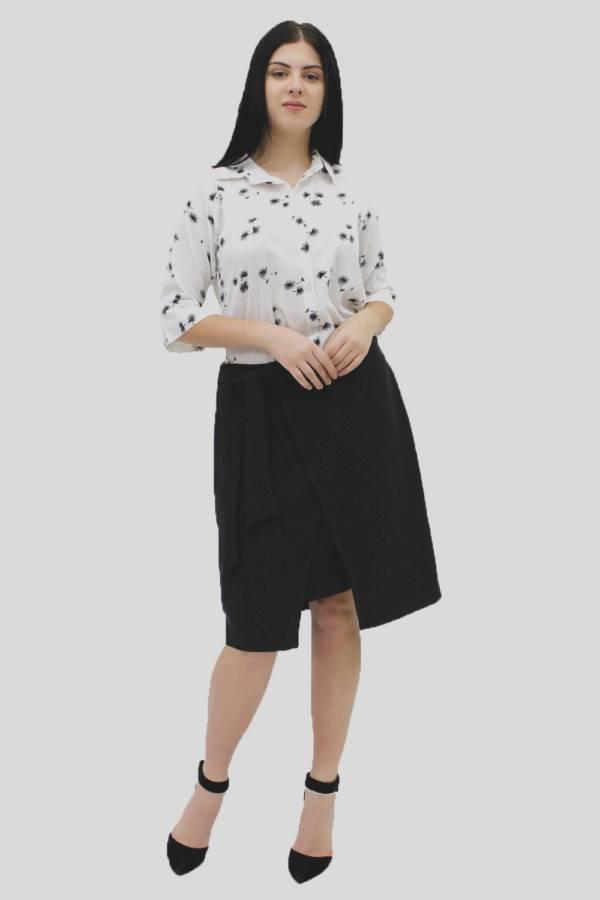 Black Wrap Skirt 4