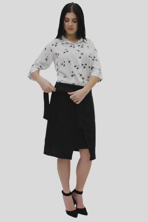 Black Wrap Skirt 5