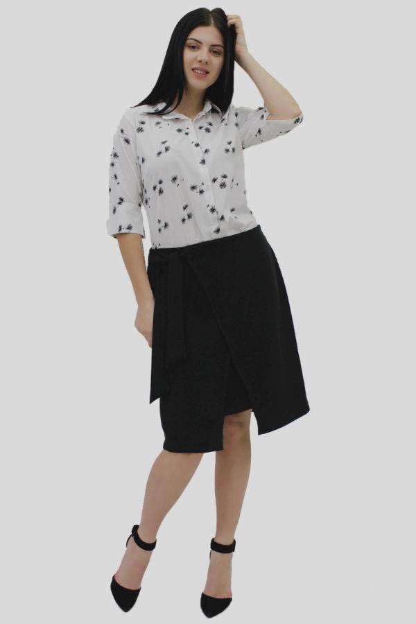 Black Wrap Skirt 6