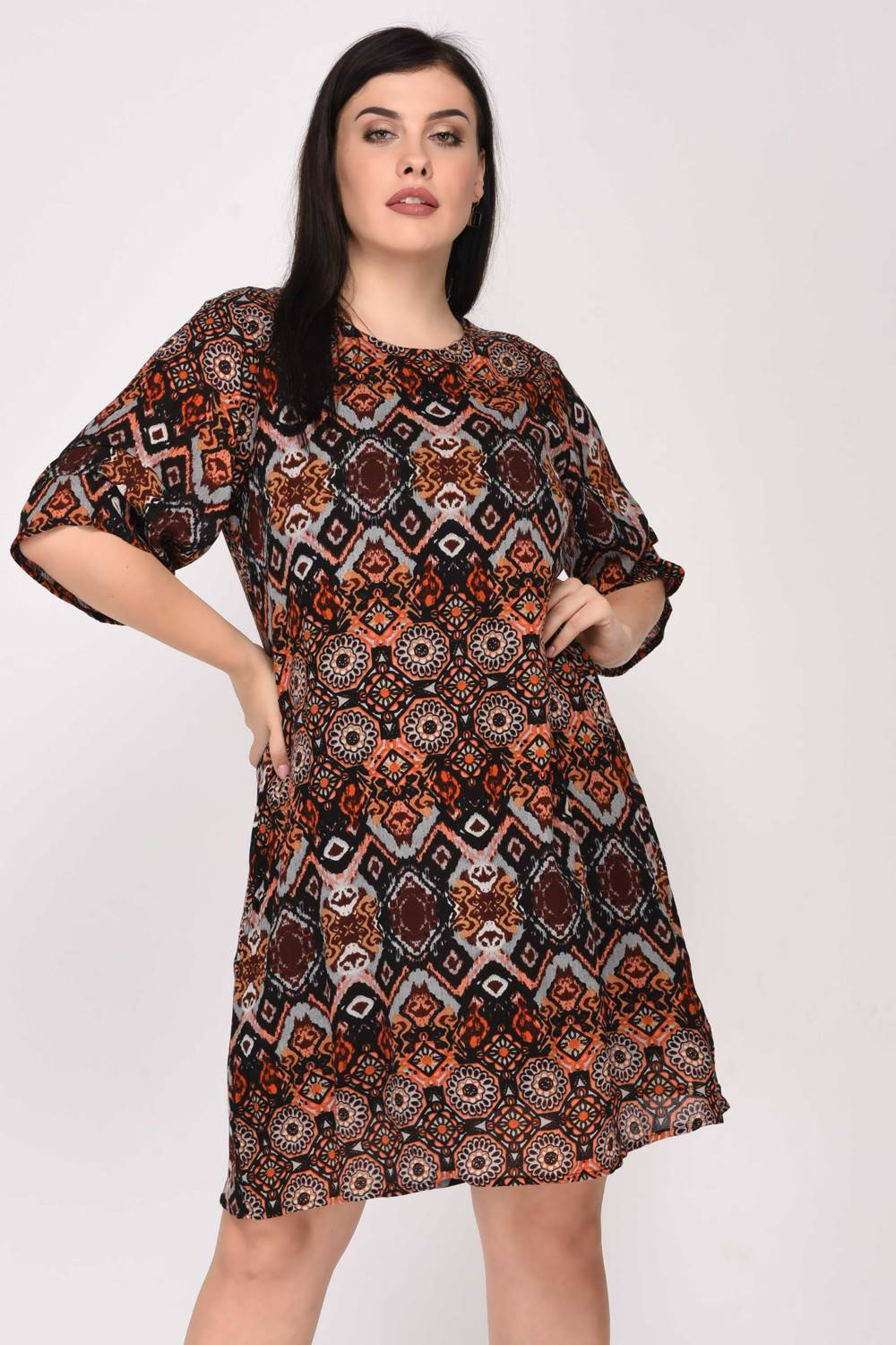 Printed Shift Dress1
